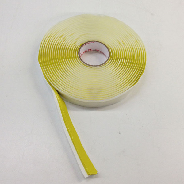 Partial Unroll of Yellow Sealant Tape